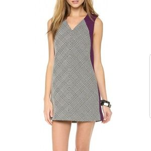 $810 Rag and Bone Tweed Colorblock Dress